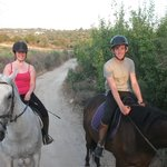 Me and my partner out on the ride