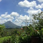Arenal volcano from restaurant