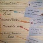 Scone menu!