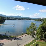 View on entire length of Mirror Lake from 5th floor balcony