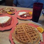 Waffle special & Apple pancake!