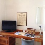 TV and writing desk in our room