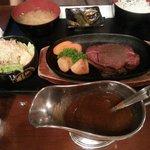 Japanese Beef Steak with Garlic Sauce