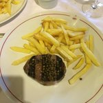 Perfect 200g fillet steak.