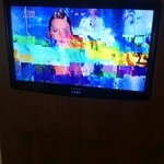Telewizor w pokoju jest działa jak widać