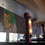 Chalk art over booths