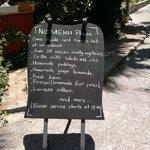 Saki restaurant - non menu menu