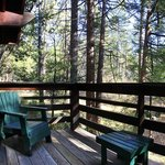 All Cabins at Quiet Creek Inn offer private decks