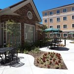 The outdoor patio area is a great place to enjoy the whether while staying in Rocklin, CA.