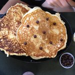 "The ""Small"" order of pancakes. With chocolate chips."