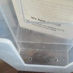 'Similar to Pontin's value chalets' dirty dusty document holder positioned next to bed
