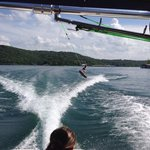 Great Lake for wakeboarding due to long, private coves with little boat waves or wind created wa