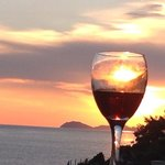 tipical balcony sunset...red wine with sky!