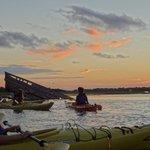 sunset/full moon kayaking