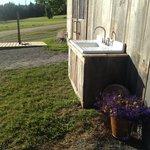 purposeful sink w mountain bike wash station behind