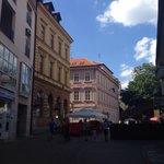 A nice European buildings along the walk.
