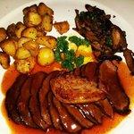 Duo de Magret et Foie Gras Poeles Garniture Forestiere  Pan-fried duck margret | Hot foie gras |