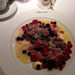 Scandinavian Iced Berries with Hot White Chocolate Sauce ;-)