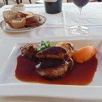 Magret de canard with foie gras