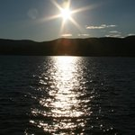 Sunset over beautiful lake George..........