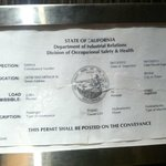 Elevator Inspection Certificate