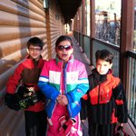 Our little ones suited up for skiing