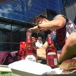 Beer and burger YUM