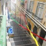 il tram per salire al barrio alto