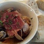 Razor clams with prosciuto