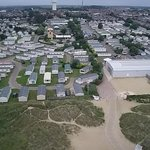 Caister camp from the air