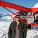 On the Ruth Glacier Ampitheatre. Very bright, even at 7:30 p.m.
