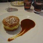 Dessert : chou, craquelin, crème vanille, caramel au beurre salé