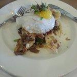 Eggs and duck breakfast