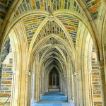 covered walkway to chapel