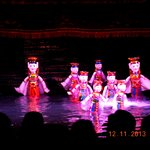A performance in the Thang Long Water Puppet Theatre