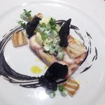 Cuttlefish and squid, octopus pressing and a Russian salad