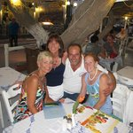 Mr. Fotis, owner of The Boat House in Kamari - plate breaking & traditional dancing too!