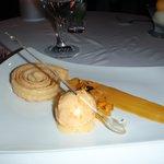 Pastry and Ice Cream Dessert