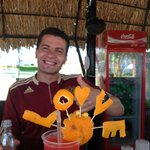 Bar by the resort, talented bar man.