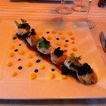 St Jacques et mousseline de carottes