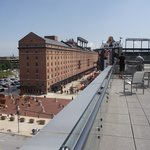View of Camden Yards from Hotel