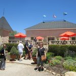 Ou tour group at the entrance to Brander Vineyards