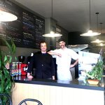 Lucas and Andrew are the new owners of Bean There Bistro