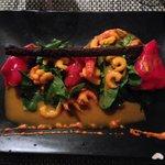 Crevettes et langouste avec roquette