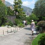 Entering the Japanese garden