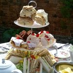Delicious, moist scones; a wide selection of cakes and ample sandwiches with salad!