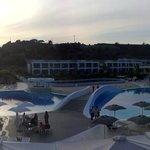 Panoramic view of the pool area