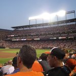 Camden Yards ballpark on a soldout night