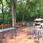 The super-secret and super-awesome back deck at Timbercreek Restaurant in Louisburg, KS.  The re