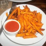 Sweet potato fries with homemade ketchup!